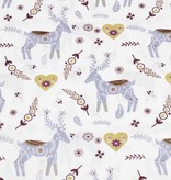 50x140 cm baumwolle christmas Rentiere offwhite/gold