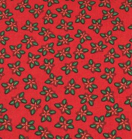 50x140 cm cotton christmas flowers red