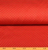 50x140 cm cotton christmas little stars red/gold