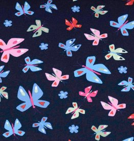 100x150 cm french terry butterflies navy