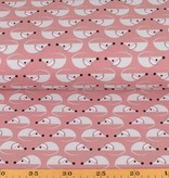 100x150 cm cotton jersey mice old pink