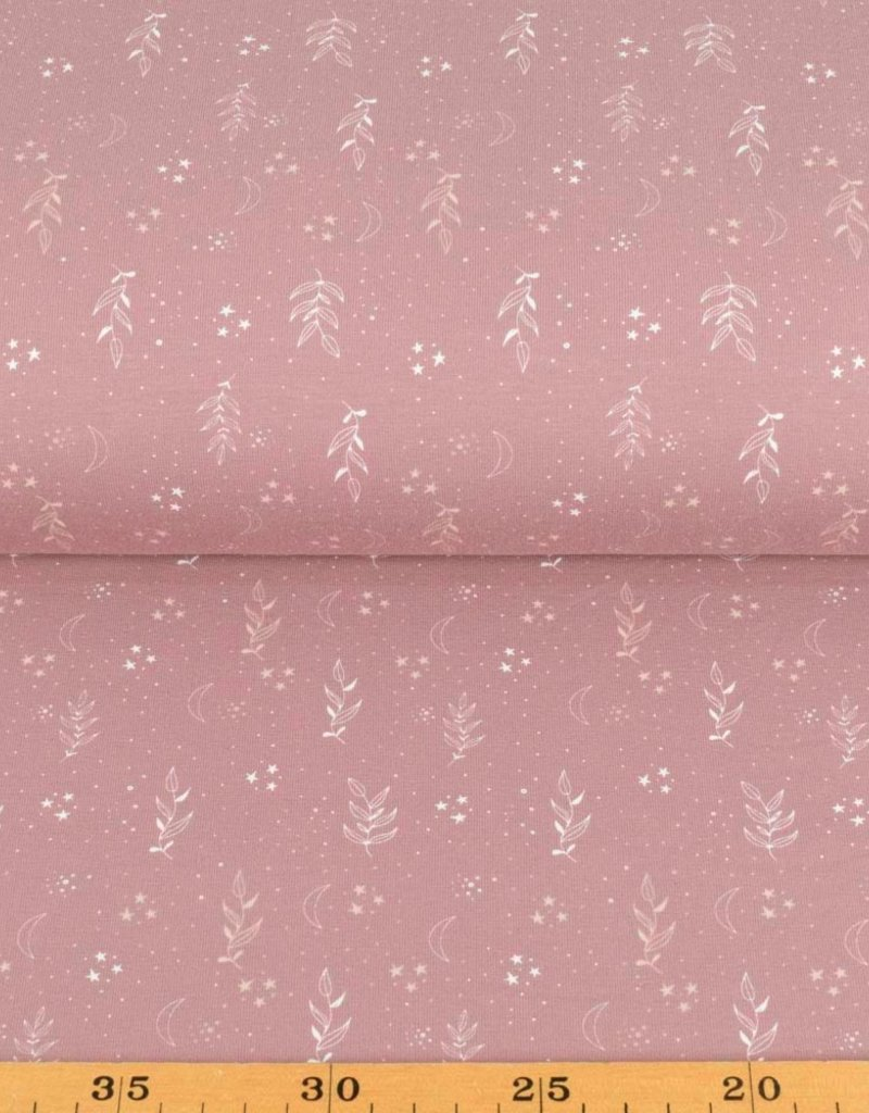 100x150 cm cotton jersey flowers old pink