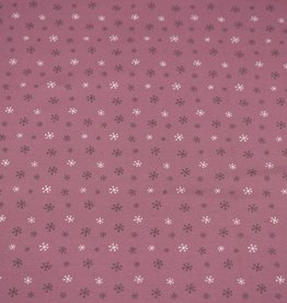 100x150 cm Cotton jersey snowflakes old pink