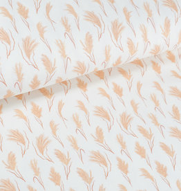 100x150 cm cotton jersey digital print fluffy twigs offwhite Blooming Fabrics