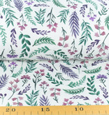 100x150 cm cotton jersey digital print flowers offwhite Blooming Fabrics