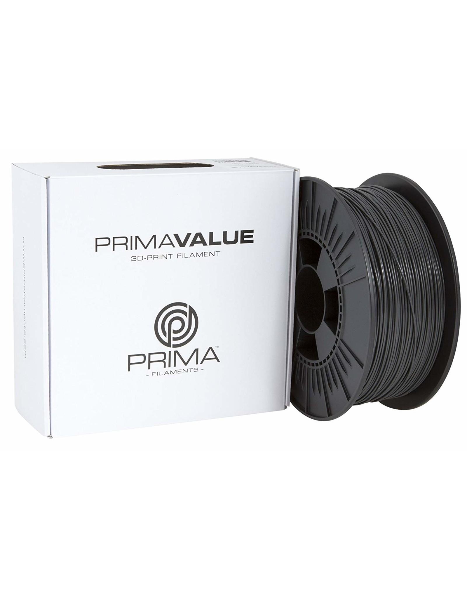 Prima PrimaValue ABS Filament - 1.75mm - 1 kg - Gris Foncé