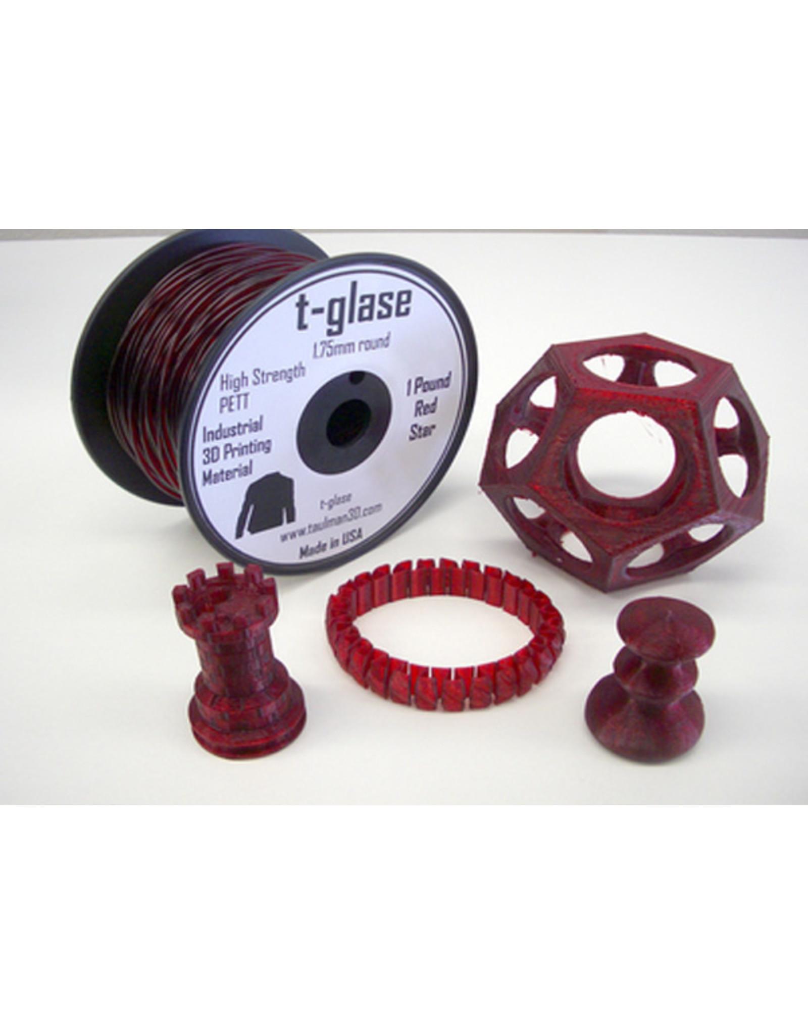 Taulman 3D Taulman t-glase PETT 1.75mm Red