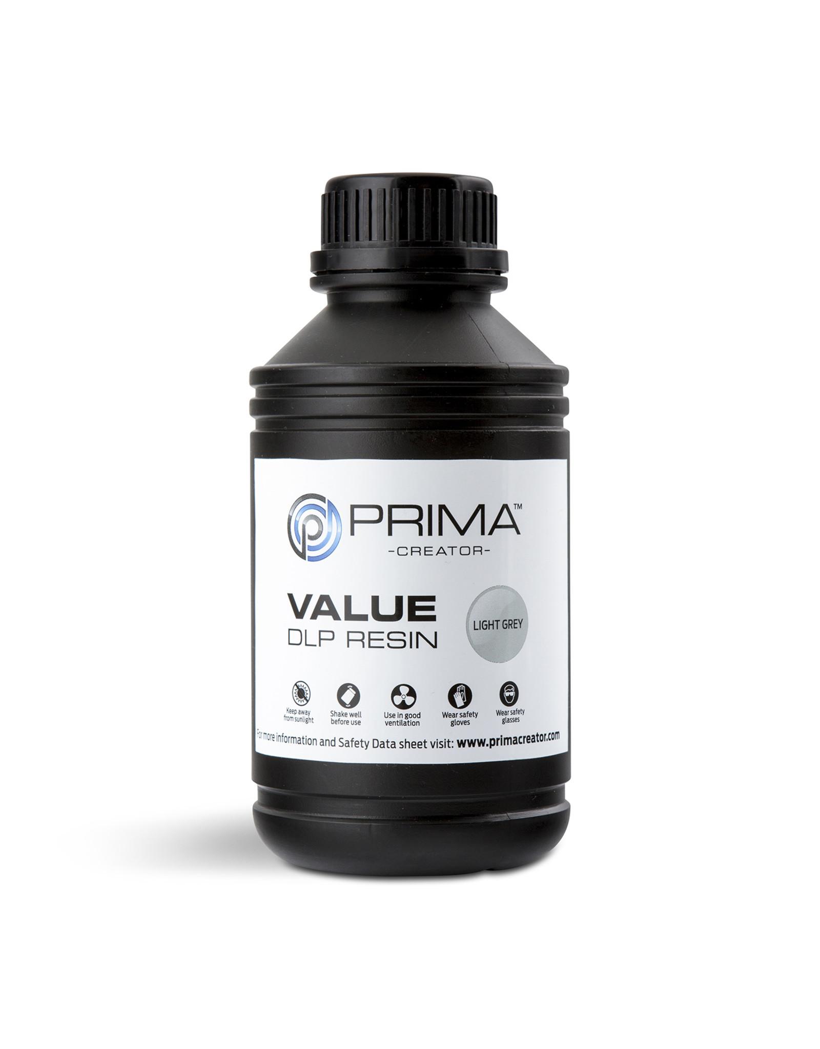 Prima PrimaCreator Value UV / DLP Resin- 1000 ml - light grey