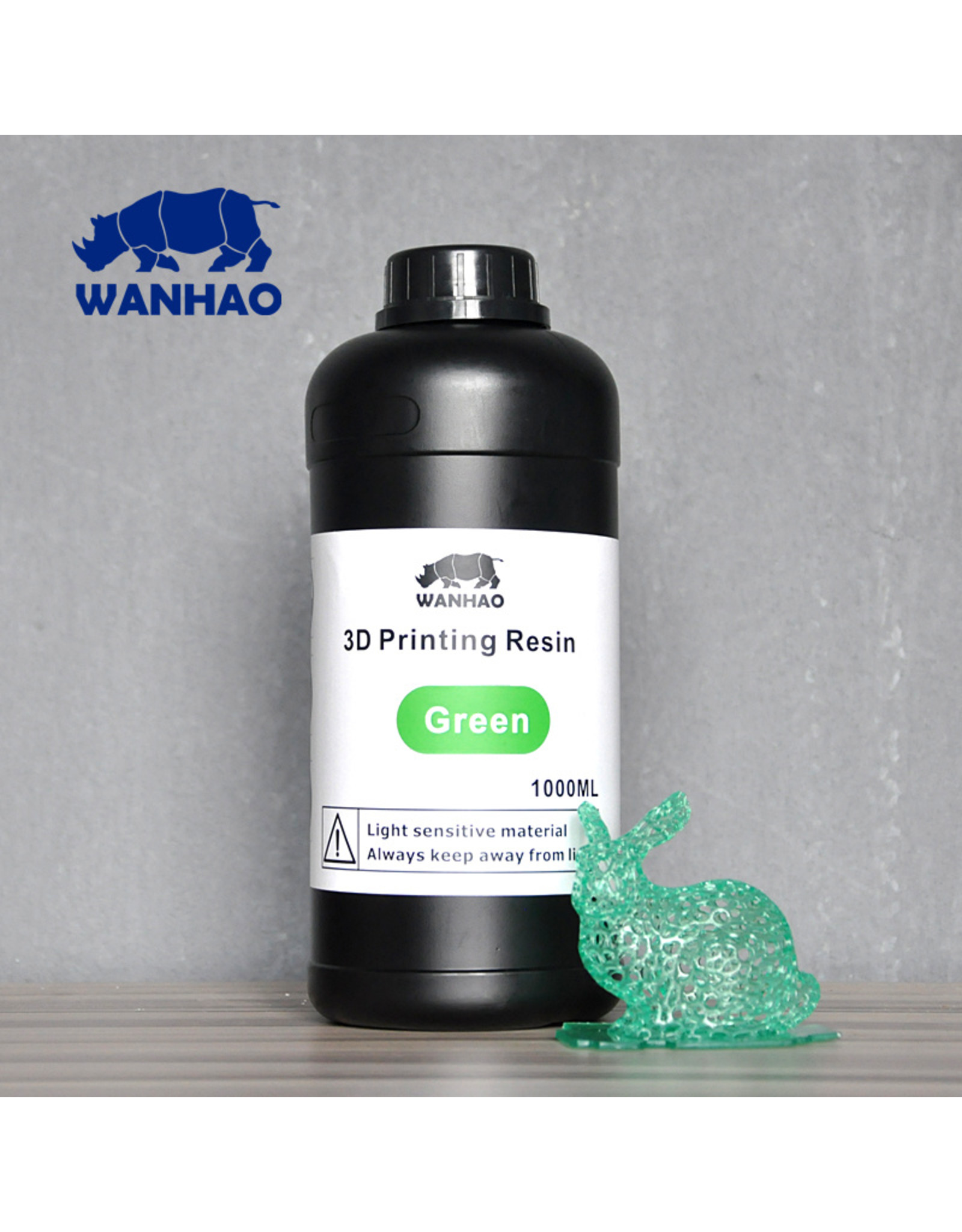 Wanhao Wanhao 3D-Printer UV Resin - 1000 ml - Groen
