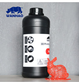 Wanhao Wanhao 3D-Printer UV Resin - 1000 ml -Rood