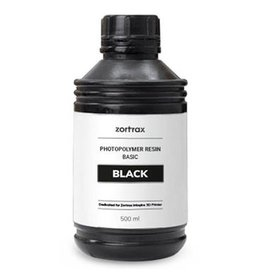 Zortrax Zortrax UV Resin - Basic - 500ml -Black
