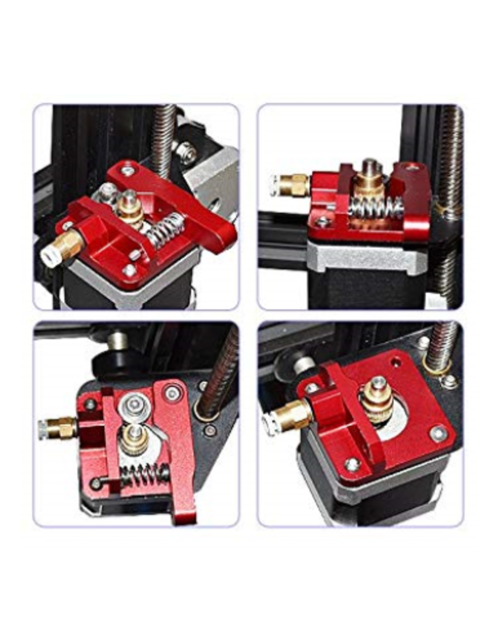 Creality/Ender MK8 /CR10 Red Metal Extruder Kit