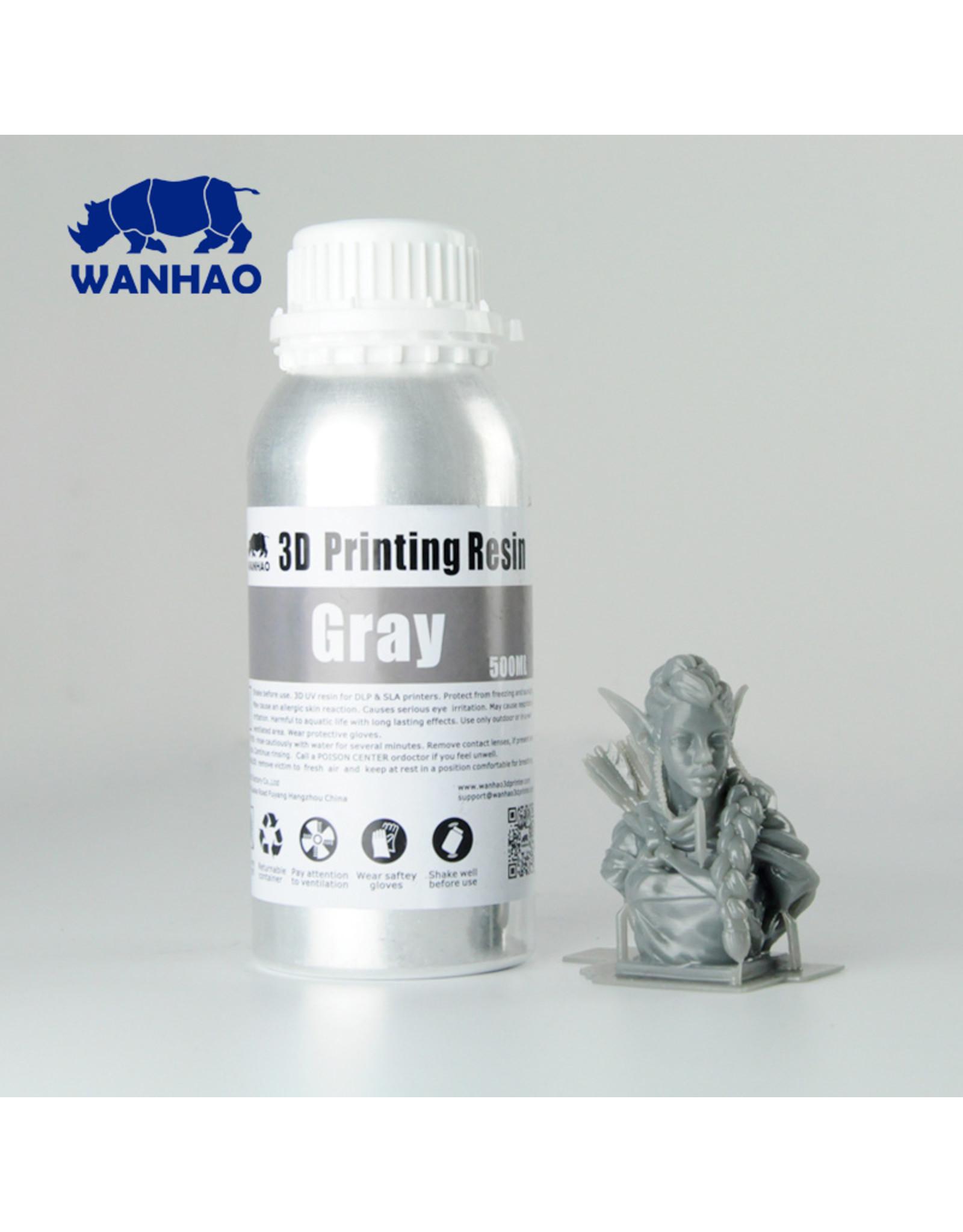 Wanhao Wanhao 3D-Printer UV Resin Water Afwasbaar - 500ml - Grijs