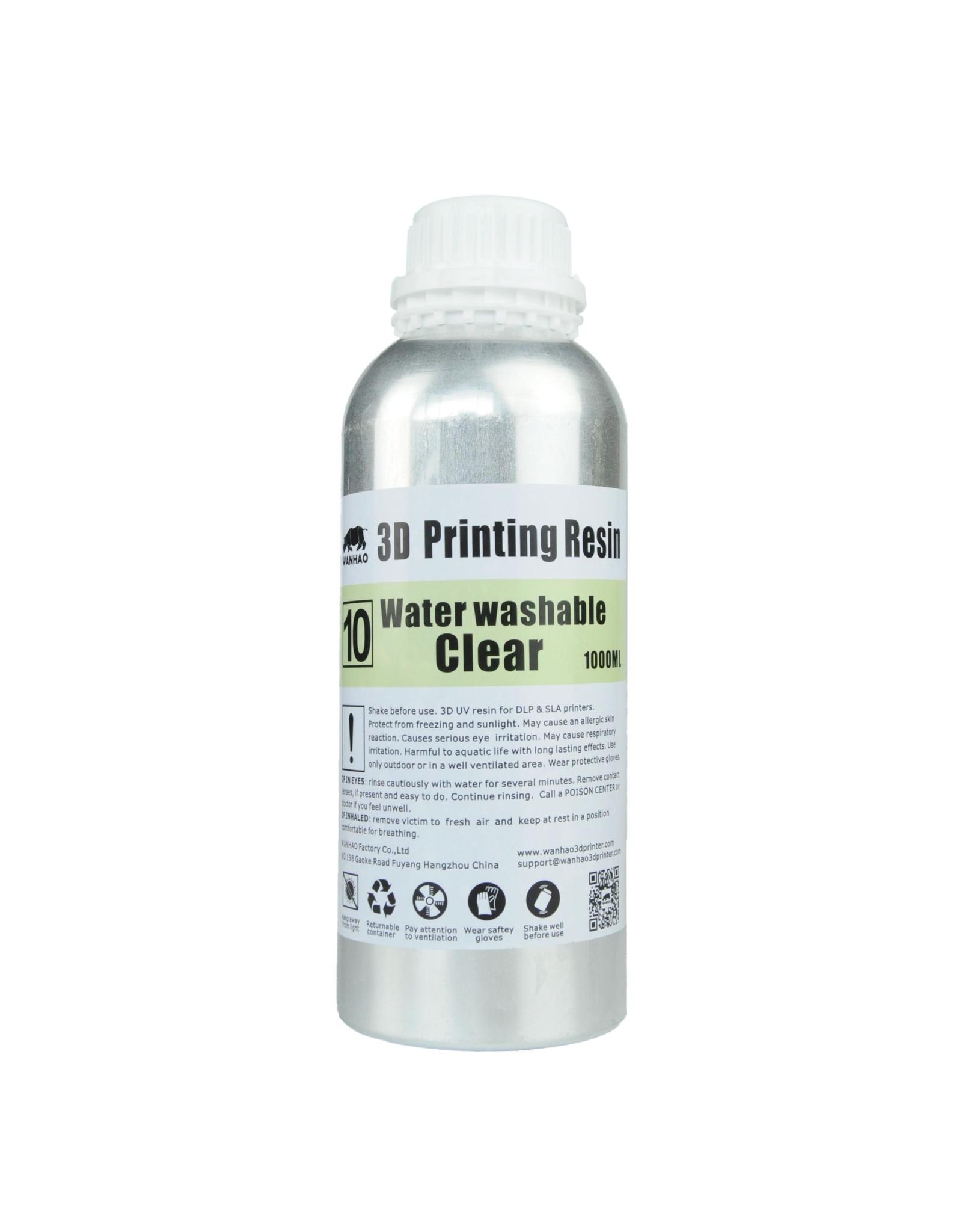 Wanhao Wanhao Résine UV pour imprimante 3D lavable à l'eau - 1000 ml - Clear