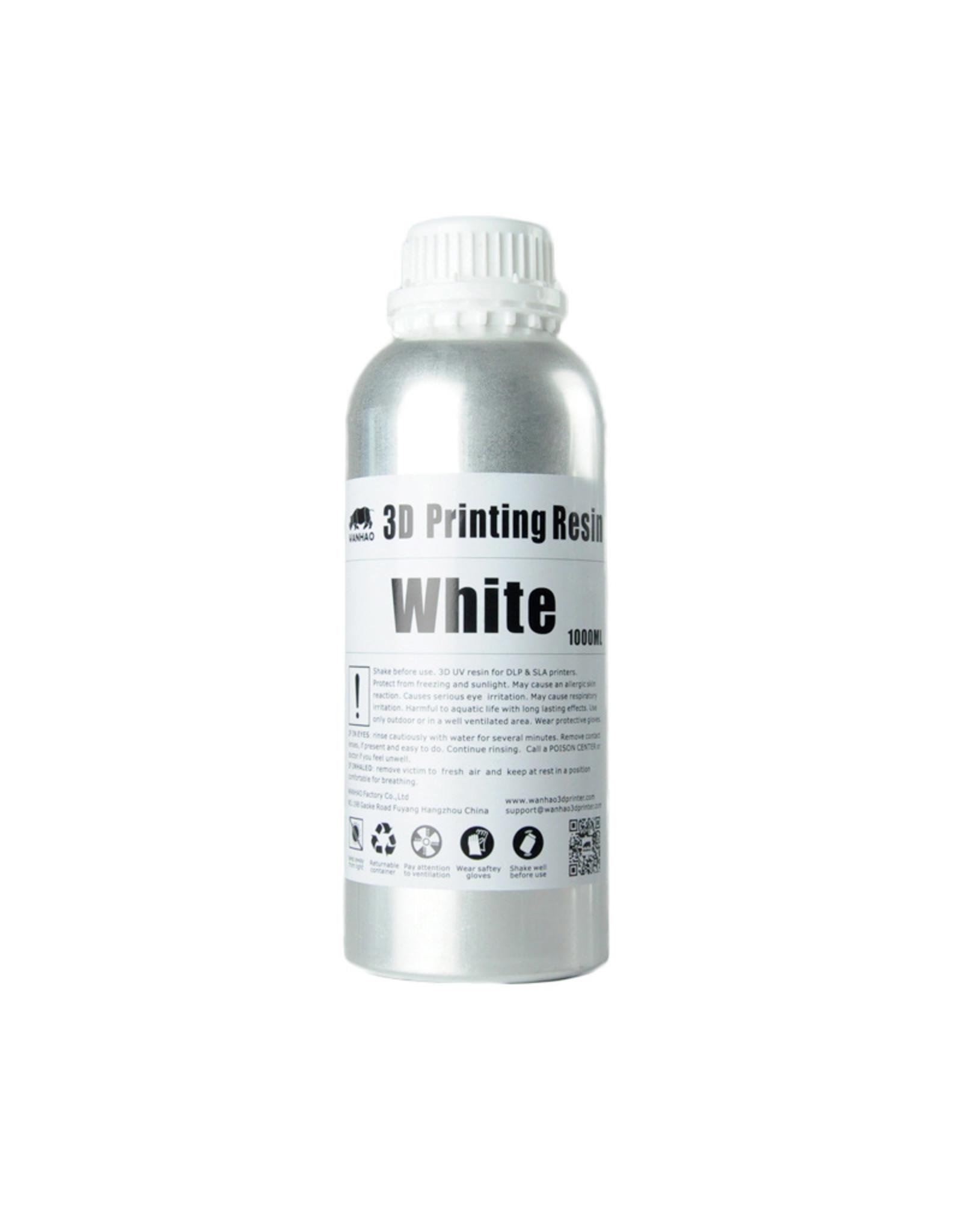 Wanhao Wanhao 3D-Printer UV Resin Water Washable - 1000 ml - White