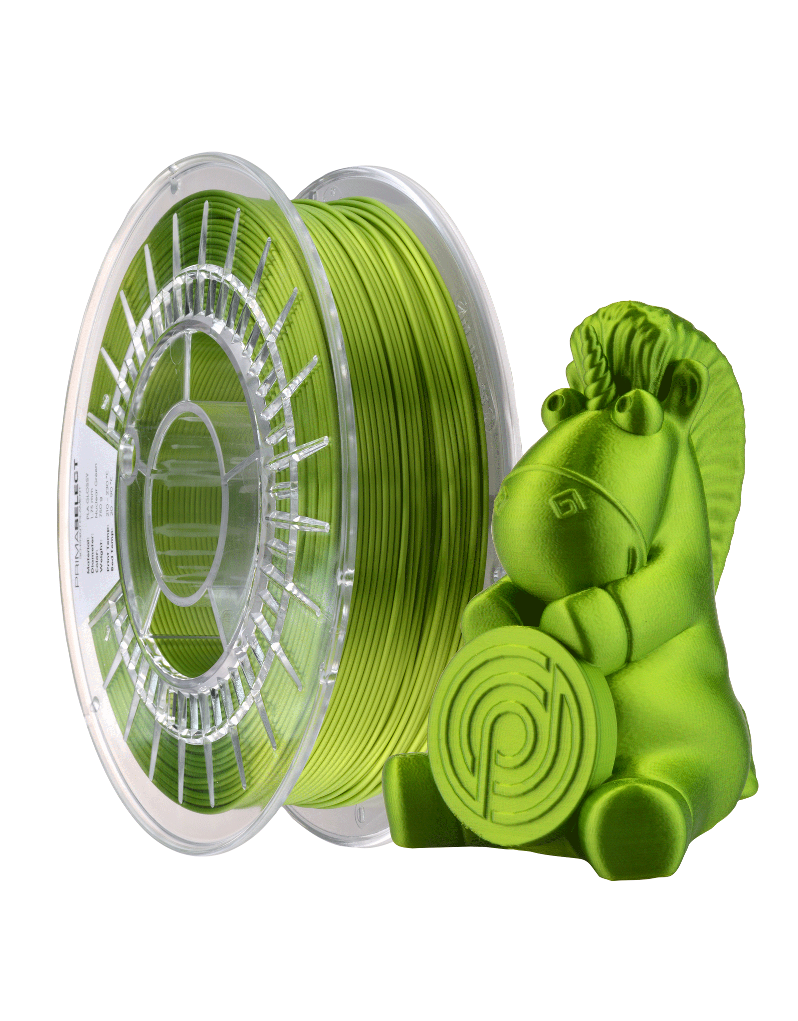 Prima PrimaSelect PLA Glossy - 1.75mm - 750 g  -  Nucleair groen