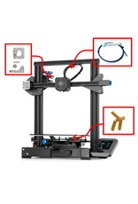 Creality/Ender Ender-3 V2 3D-printer NEW - 220x220x250 mm - FREE upgrade pack Alu extruder + Capricorn XS + sturdy bed springs