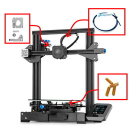 Creality/Ender Creality Ender-3 V2 3D-printer NEW - 220x220x250 mm