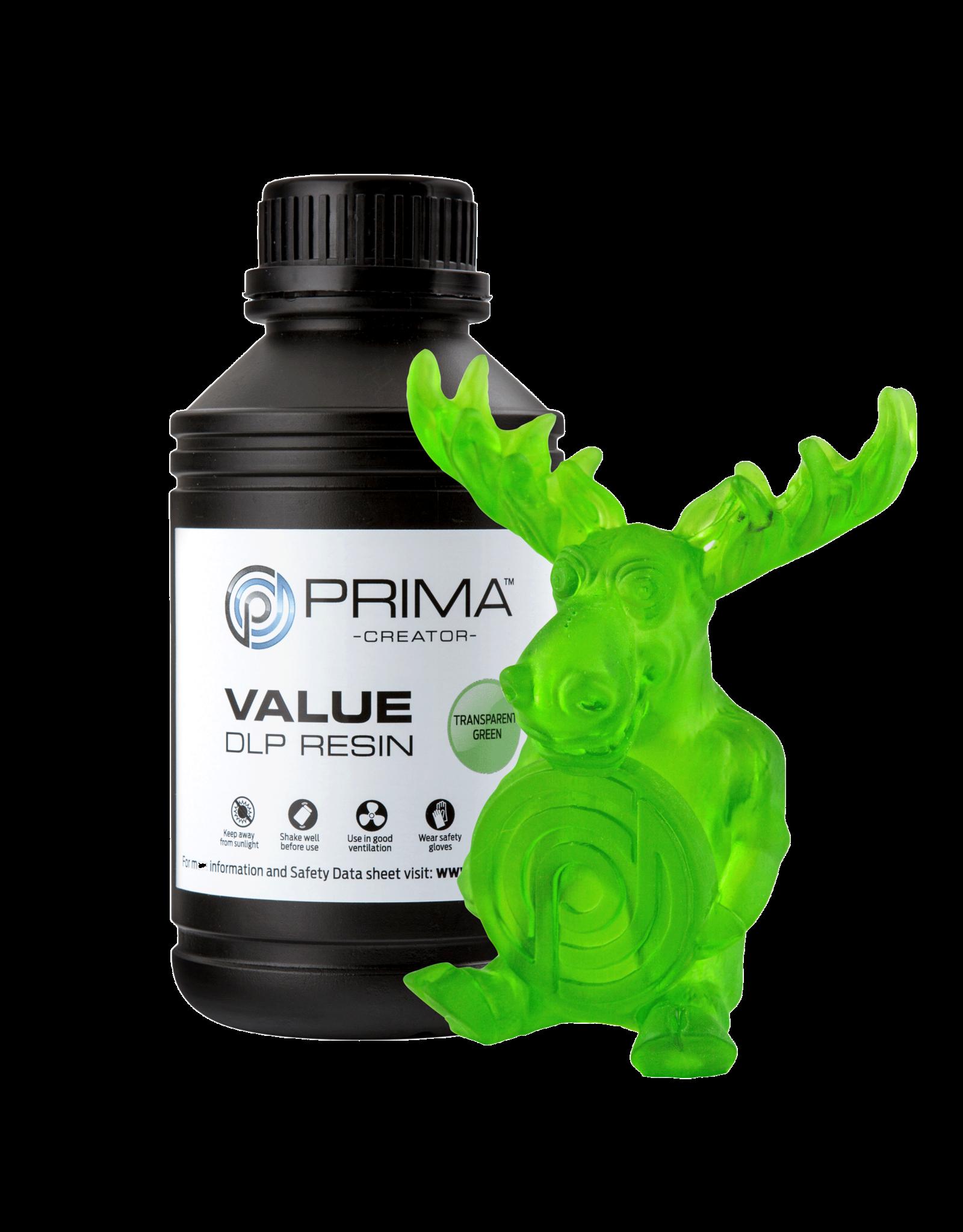Prima PrimaCreator Value UV / DLP Resin vert transparent