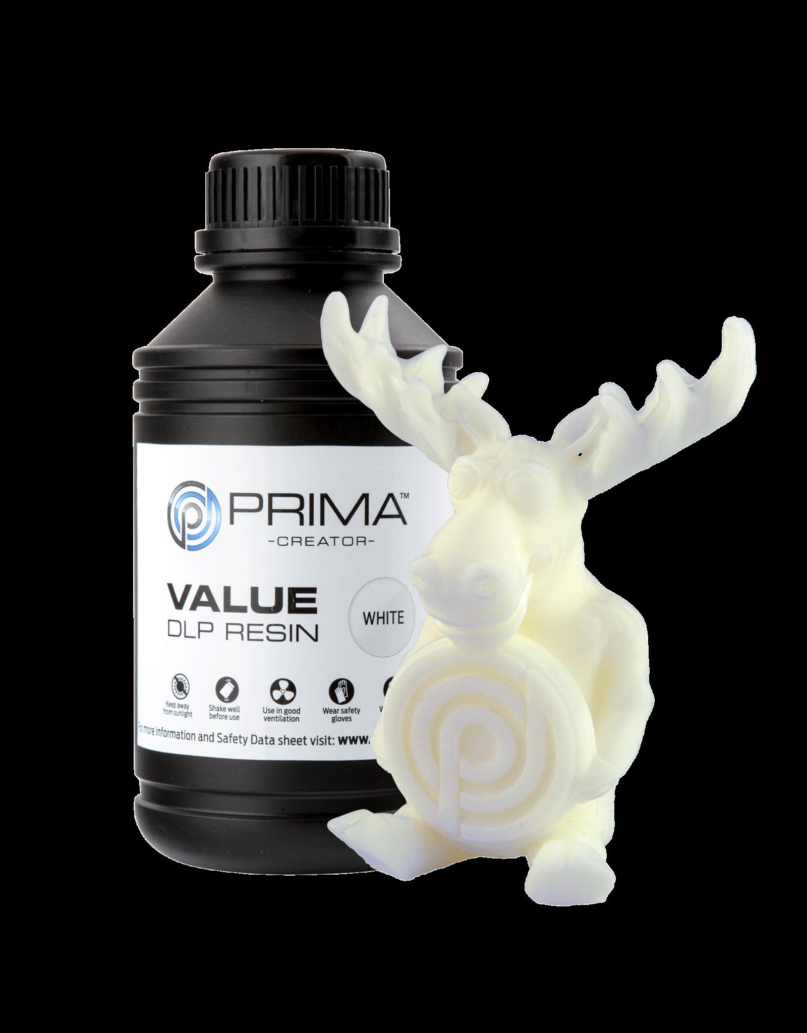 Prima PrimaCreator Value UV / DLP Resin- 1000 ml - Blanc