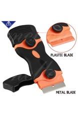 3D In The Box Dubbelbladige schraper - Metaal of Plastic