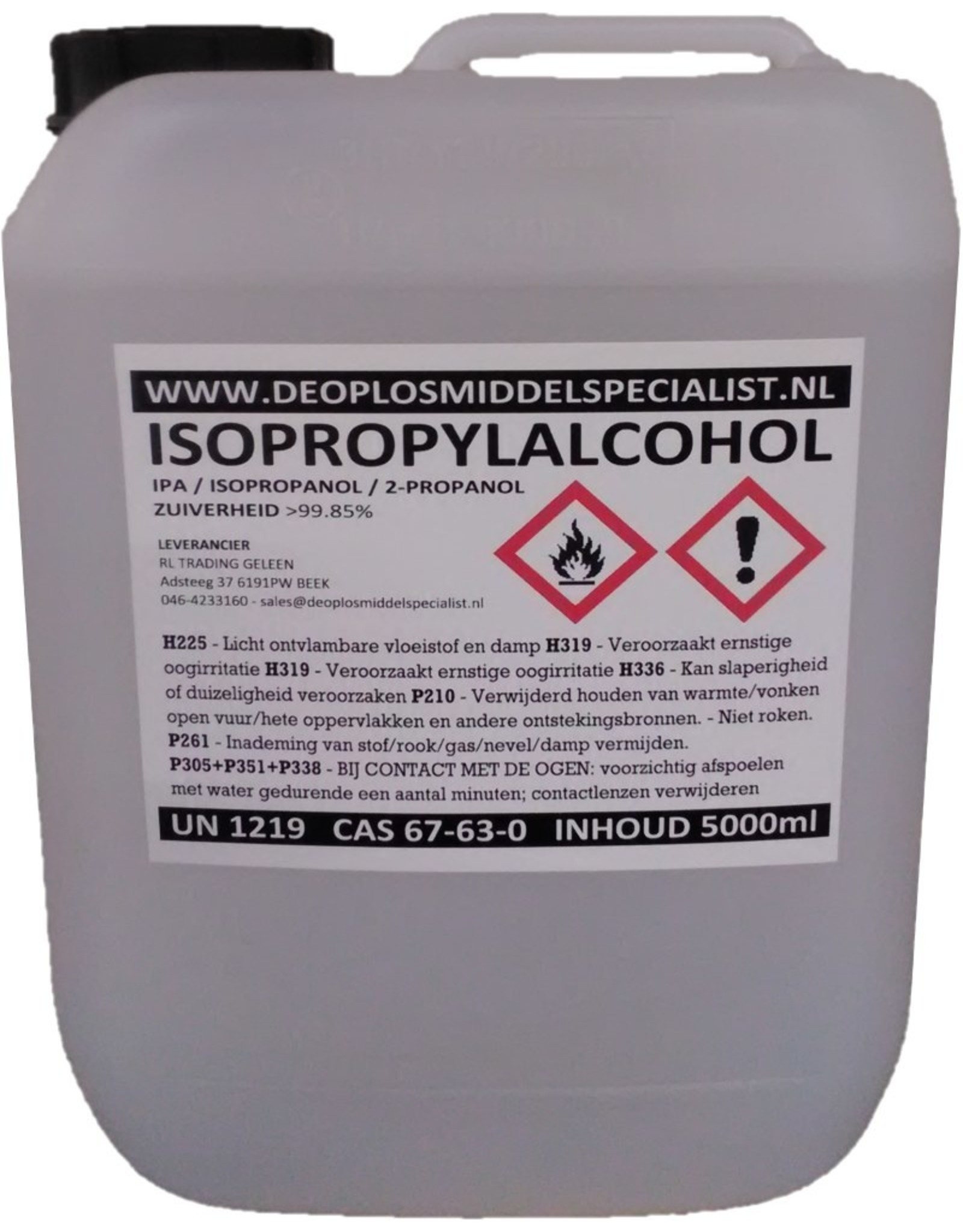 3D In The Box Alcool isopropylique 5L
