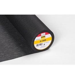 Vlieseline Vlieseline H200 zwart opstrijkbaar 90cm