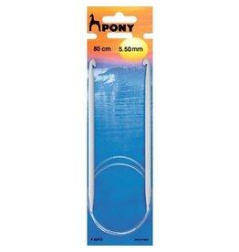 Pony Pony Tunesische haaknaald met kabel 5.5 mm 80 cm