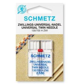 Schmetz Universele tweelingnaald 2.5/80