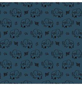 Poppy Poppy Soft sweat elephant blue
