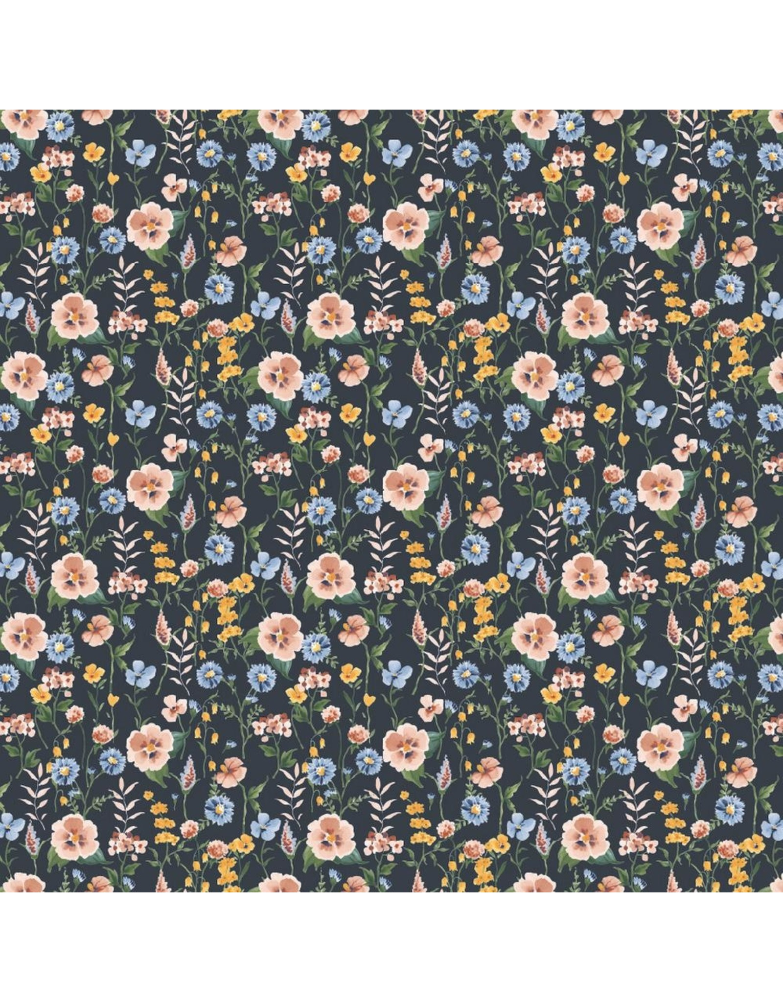 Poppy Poppy Jersey Flower Field