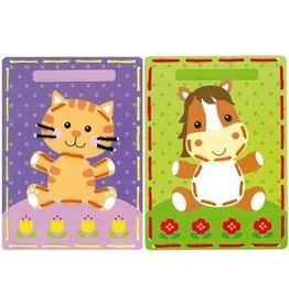 Vervaco Vervaco Borduurkaarten Kids4stitch Kat en paard