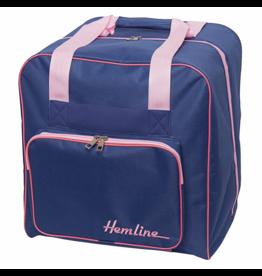 Hemline Hemline Overlocktas blauw / roze
