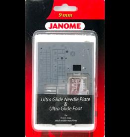 Janome Janome Teflonnaaldplaat + Glijvoet 9mm