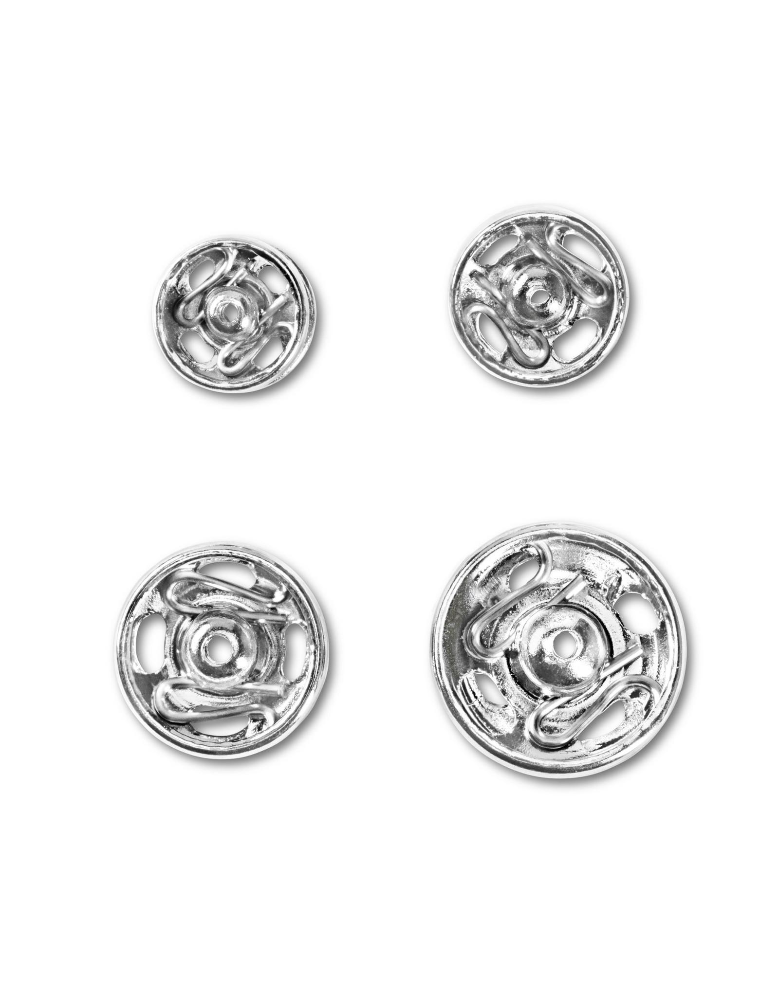 Prym Aannaaidrukknopen MS 6-11 mm ass. zilverkleurig