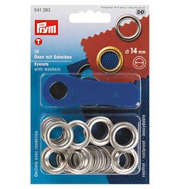 Prym Ringen met schijven MS 14,0 mm zilverkleurig