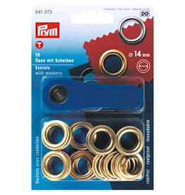 Prym Ringen met schijven MS 14,0 mm goudkleurig