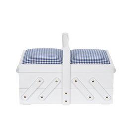 Prym Naaibox hout S wit met stof - 1 stuks/pce