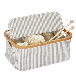 Prym Box Canvas & bambo? opvouwbaar grijs - 1 stuks/pce