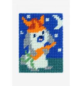 DMC DMC Kinderkruissteekpakket I can stitch konijn met helm