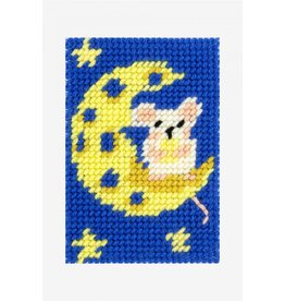 DMC DMC kinderkruissteekpakket I can stitch muis op maan