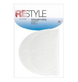 Restyle Restyle schoudervulling wit half groot