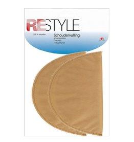 Restyle Restyle schoudervulling groot half huidskleur