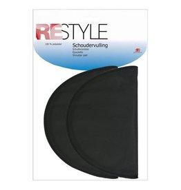 Restyle Restyle schoudervulling klein half zwart