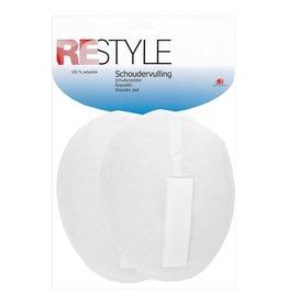 Restyle Restyle schoudervulling met velcro ovaal wit