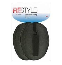 Restyle Restyle schoudervulling met velcro ovaal zwart