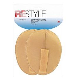 Restyle Restyle schoudervulling met velcro ovaal huidskleur