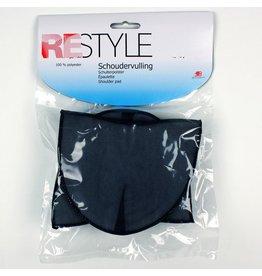 Restyle Restyle schoudervullingen gebogen half zwart