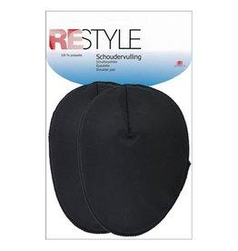 Restyle Restyle schoudervullingen raglan zwart