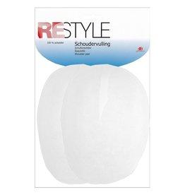 Restyle Restyle schoudervullingen raglan wit